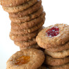 Oatmeal, peanut butter and jelly cookies