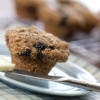 Apple-blueberry bran muffins