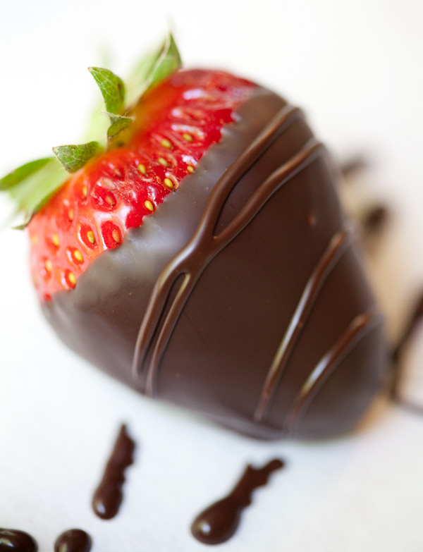 Dark chocolate covered strawberries: u-pick, u-dip, u ...