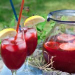 Infuse a little summertime into your lemonade with black raspberry and lavender